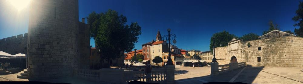 Una plaza en Zadar